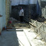Construction of toilet facilities for a deprived family at Pailles-July 2014