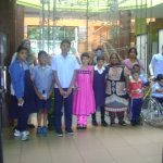 Visit at RGandhi Science Centre by Handicapped children August 2015