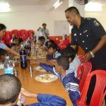 Lunch offered to CSENS and prevoc students by PVerte policemen